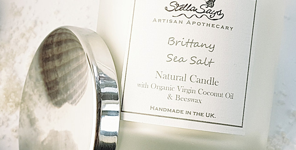 Brittany Sea Salt Natural Beeswax Candle
