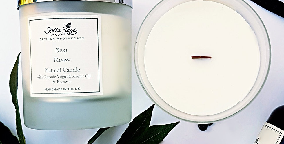Bay Rum - Natural Beeswax Candle