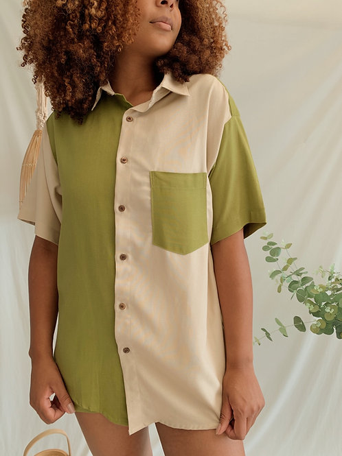 camisa colorblock (Abstrama + Sodro)