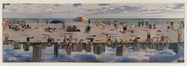 Beachwalk, 180° drehbare Strandbilder, vom Papier-Künstler tom k. aus Mettmenstettn.
