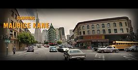 Moviescape, 2 1/2 dimensionale Collagenbilder von San Francisco, vom Papier-Künstler tom k. aus Mettmenstettn.
