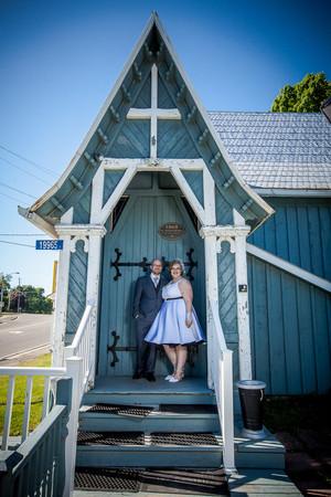 Greenbank Blue Church Wedding Couple