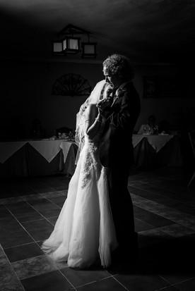 Dark Dramatic Wedding Couple