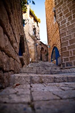 Side streets of Port of Jaffa Israel