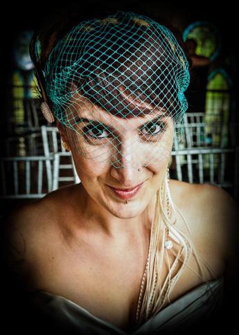 Cute Veiled Bridal Portrait