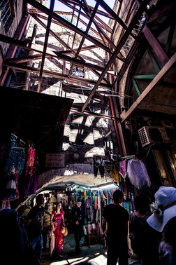 Bazaar in the Streets of Old Jerusalem Israel