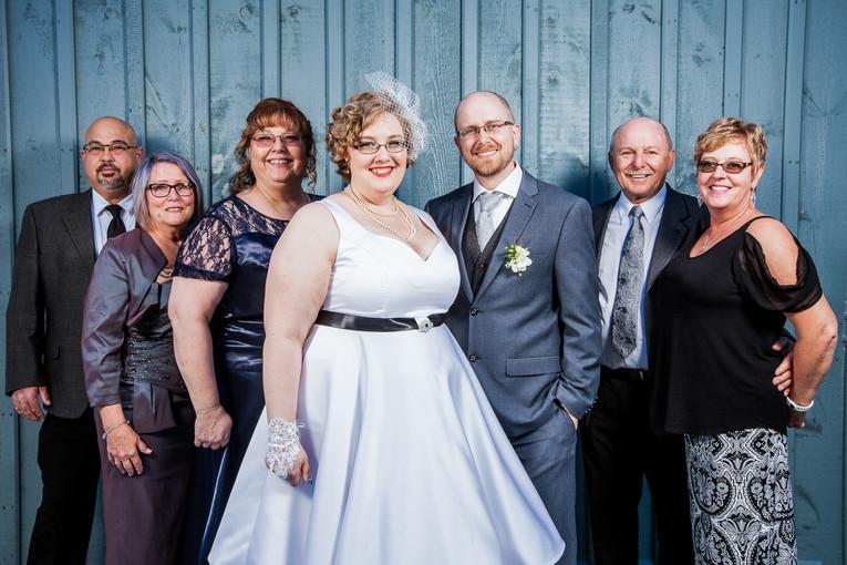 Blue Wedding Party Portrait