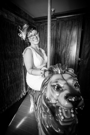 Bride on Carousel