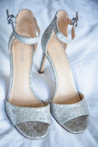 Silver Shoes Wedding Detail