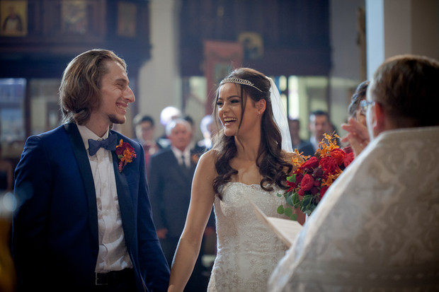 Journalistic Photography of Happy Bride and Groom