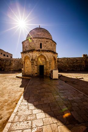 Chapel of Ascension Mt Olives Jerusalem Israel