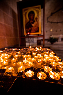 Votive Candles Church in Israel
