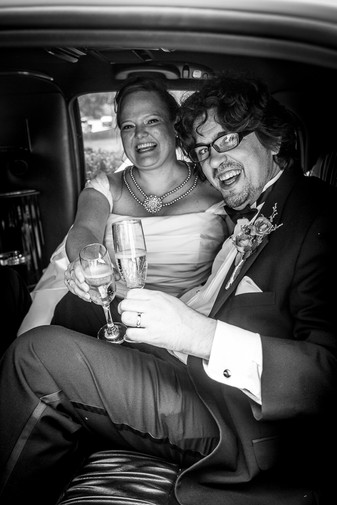 Laughing Limo Couple