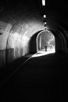 Paris Pedestrian Tunnel Along the Siene