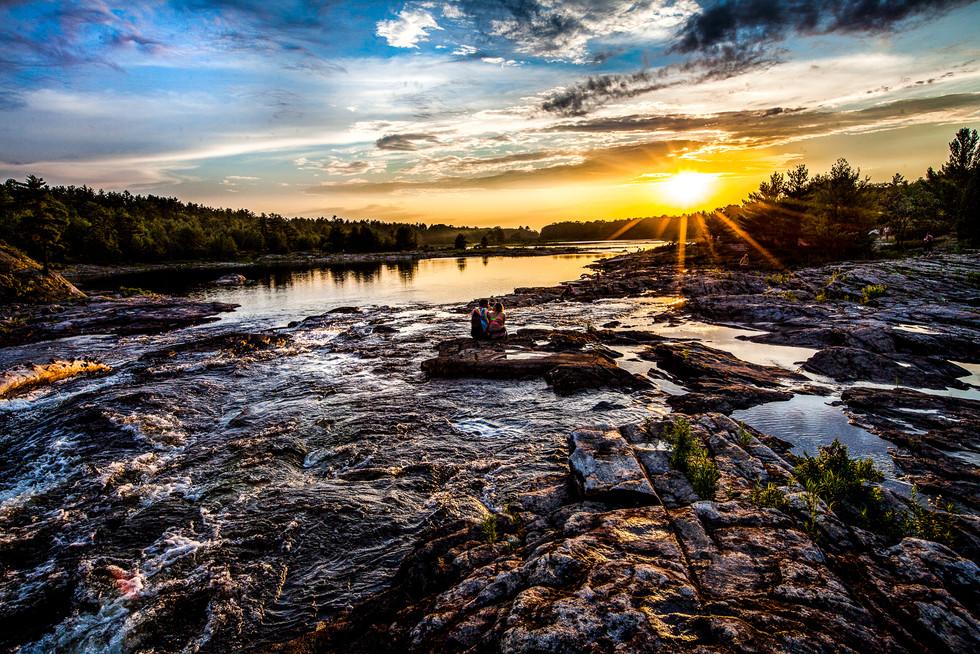 Moon River Ontario Sunset