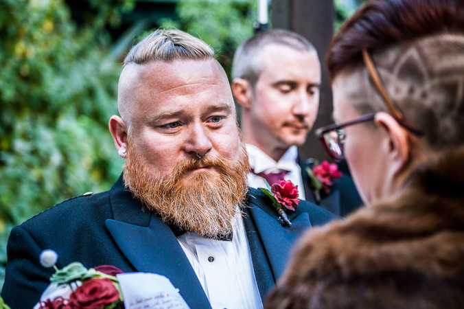 Bearded Groom Wedding Ceremony