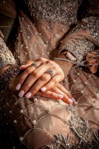 Jeweled Wedding Dress Ring Shot