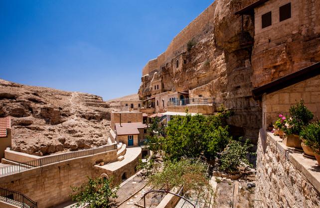 Mar Saba Monastary Judean desert West Bank
