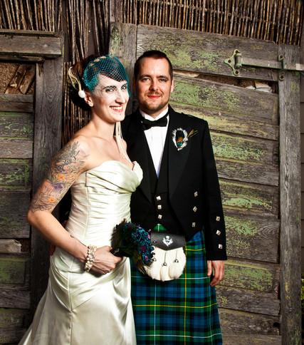 Tartan Wedding Couple