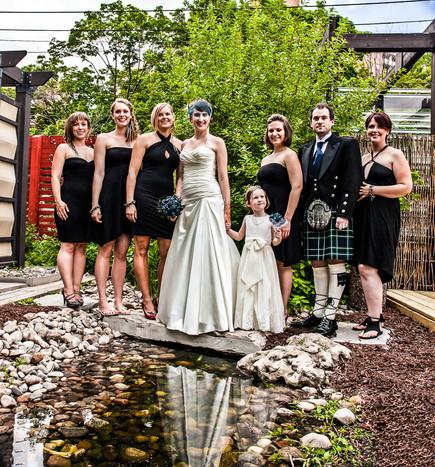 Bridal Party Puddle Portrait