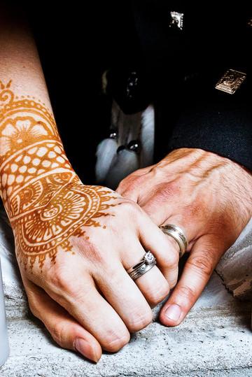 Wedding Rings Mehndi