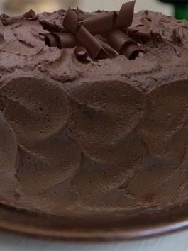 Mayan Chocolate Cake with Chocolate Sweet Potato Frosting