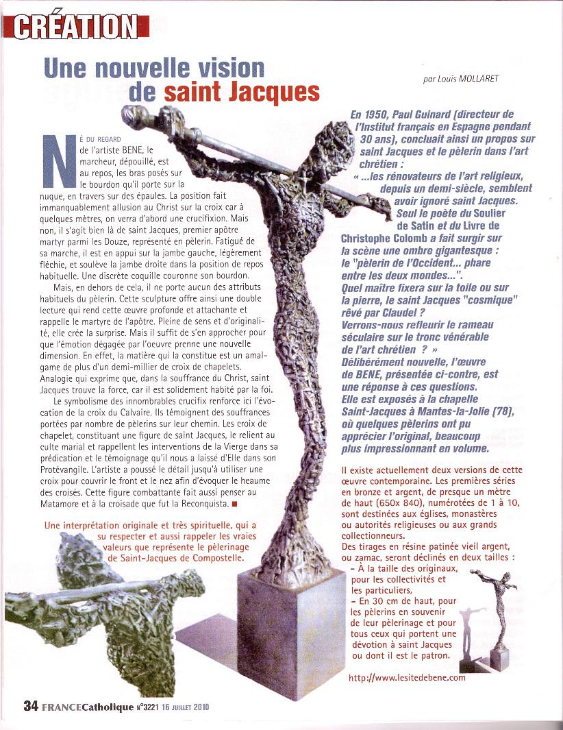 ARTICLE FRANCE CATHOLIQUE 3221 compostelle
