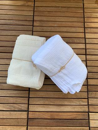 Toalla de Baño 100% Algodón Blanco / Crudo