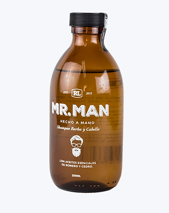Shampoo para cabello MR. MAN 250 ml.