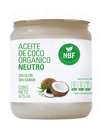 Aceite de Coco Orgánico Neutro 475gr.