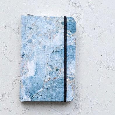 Libreta Puntos Mármol Azul - Rock Design