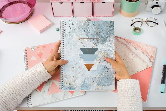 Cuaderno Cuadriculado Mármol Azul - Rock Design