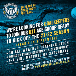 Goalkeepers wanted — U11 Age Group