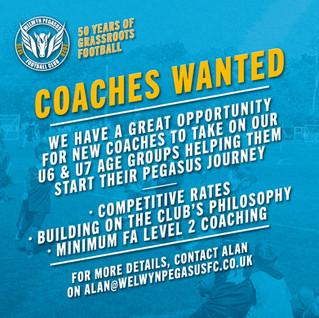 COACHES WANTED – COMPETITIVE RATES