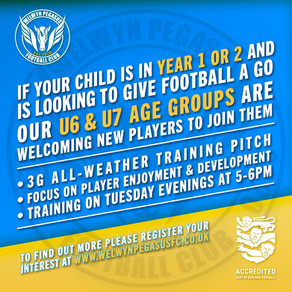 U6 & U7 Players Welcome to try out