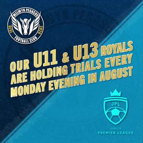 JPL Trials – U11 & U13 Royals