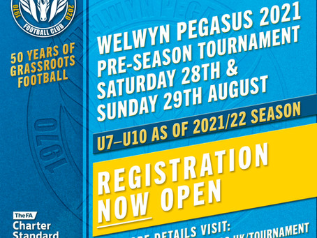 2021/22 Pre-season Tournament – Registration Now Open