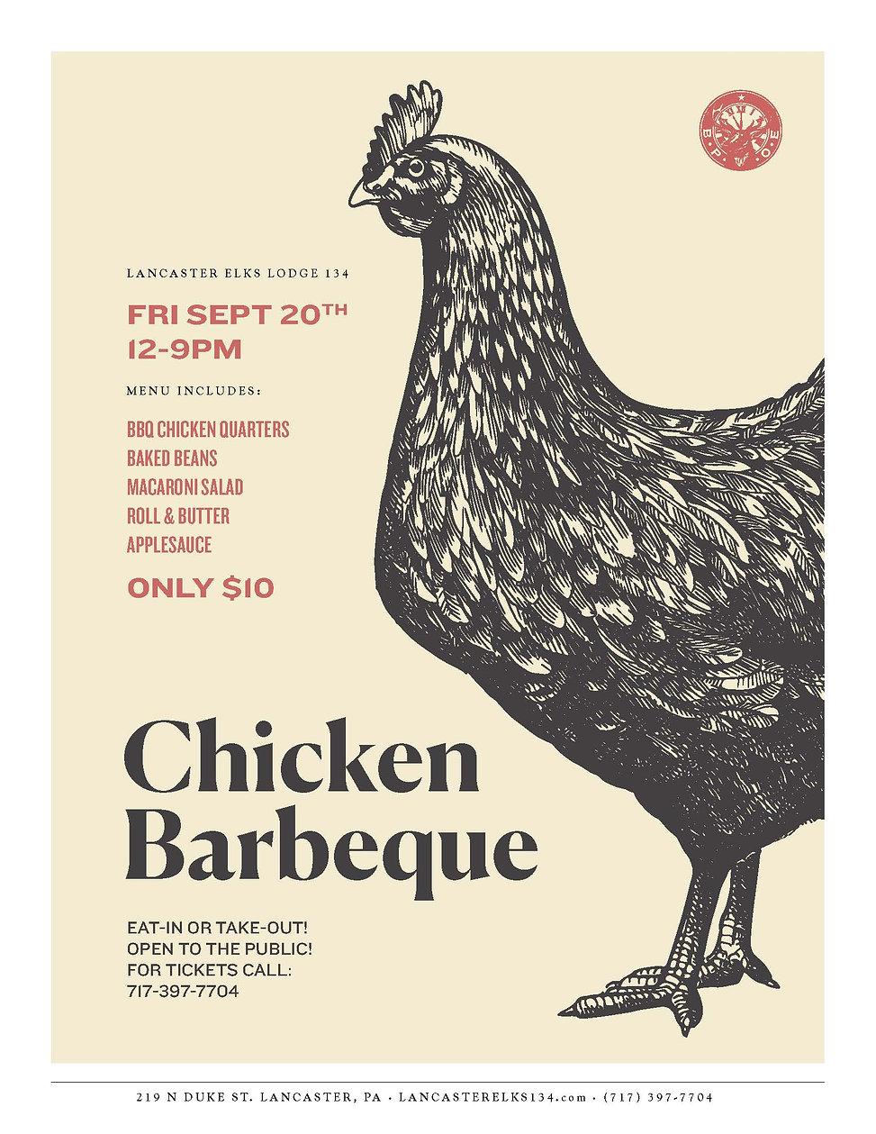 Lancaster Elks BBQ Chicken Dinner