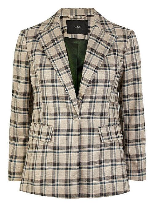 Veste blazer écossaise marque YAS