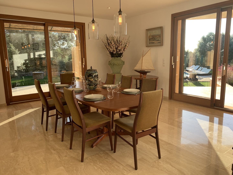 Indoor dining area