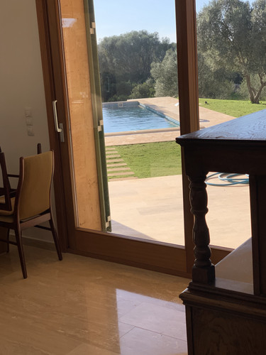 Looking to pool from sitting room