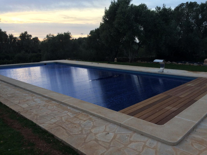 Pool with cover over it