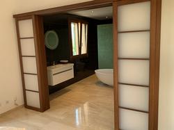 Ensuite bathroom to master bedroom upstairs