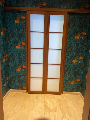 Shoji doors to aseo downstairs