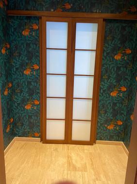 Shoji doors to downstairs cloakroom