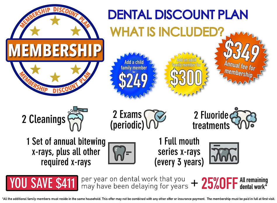 dental membership, dental discount plan, no insurace dentist, dentist in lancaster