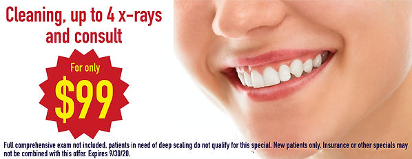 FREE CONSULTATION, CLEANING, X RAYS AND MORE FOR 99, CHEAP DENTAL CLEANING, FREE CONSULT, BACK TO SCHOOL SPECIAL