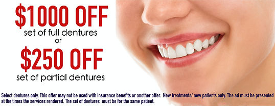 FREE CONSULTATION, 1000 OFF DENTURES, 250 OFF DENTURES, CHEAP DENTURES, FREE CONSULT, HOLIDAY SPECIAL