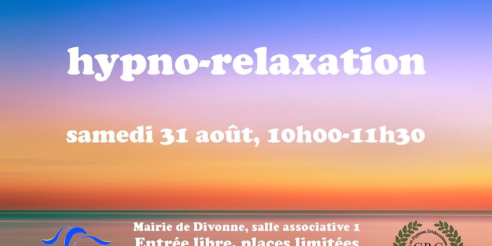 Hypno-relaxation samedi 31 août à Divonne 01220