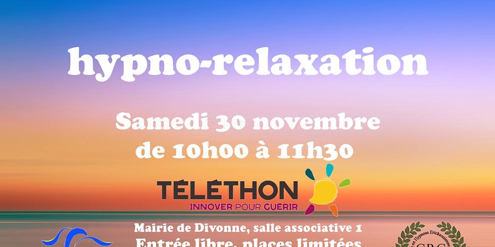 Hypno-relaxation gratuite à Divonne, 30 novembre 2019
